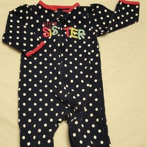 3/$15 Just One You ballerina footed baby pajamas